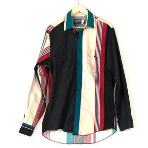 VTG Wrangler Cowboy Cut X-Long Tails Western Shirt